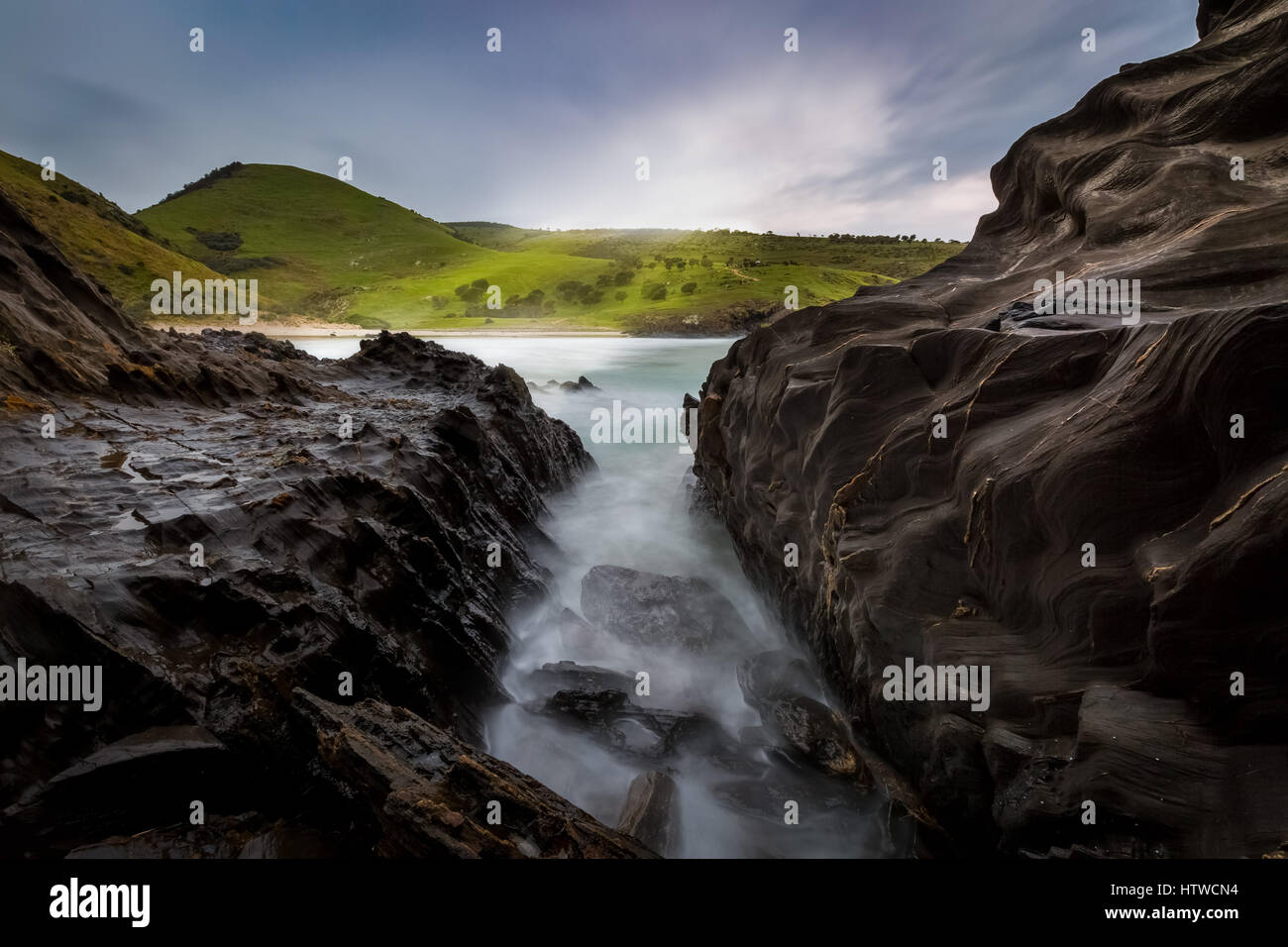 Blowhole Beach - Deep Creek Conservation Park, South Australia - Stock Image