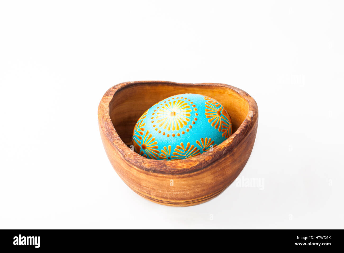 Easter egg, Paschal egg decorated with beeswax - to celebrate Easter. Its old tradition in Lithuania, Eastern Europe. - Stock Image