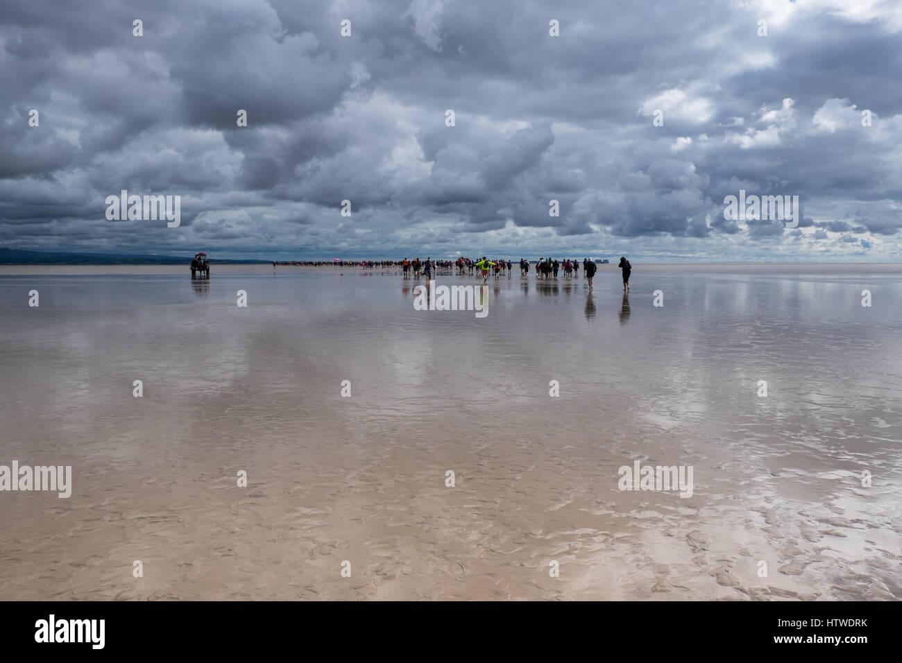 Morecambe Bay Sands WalkStock Photos and Images