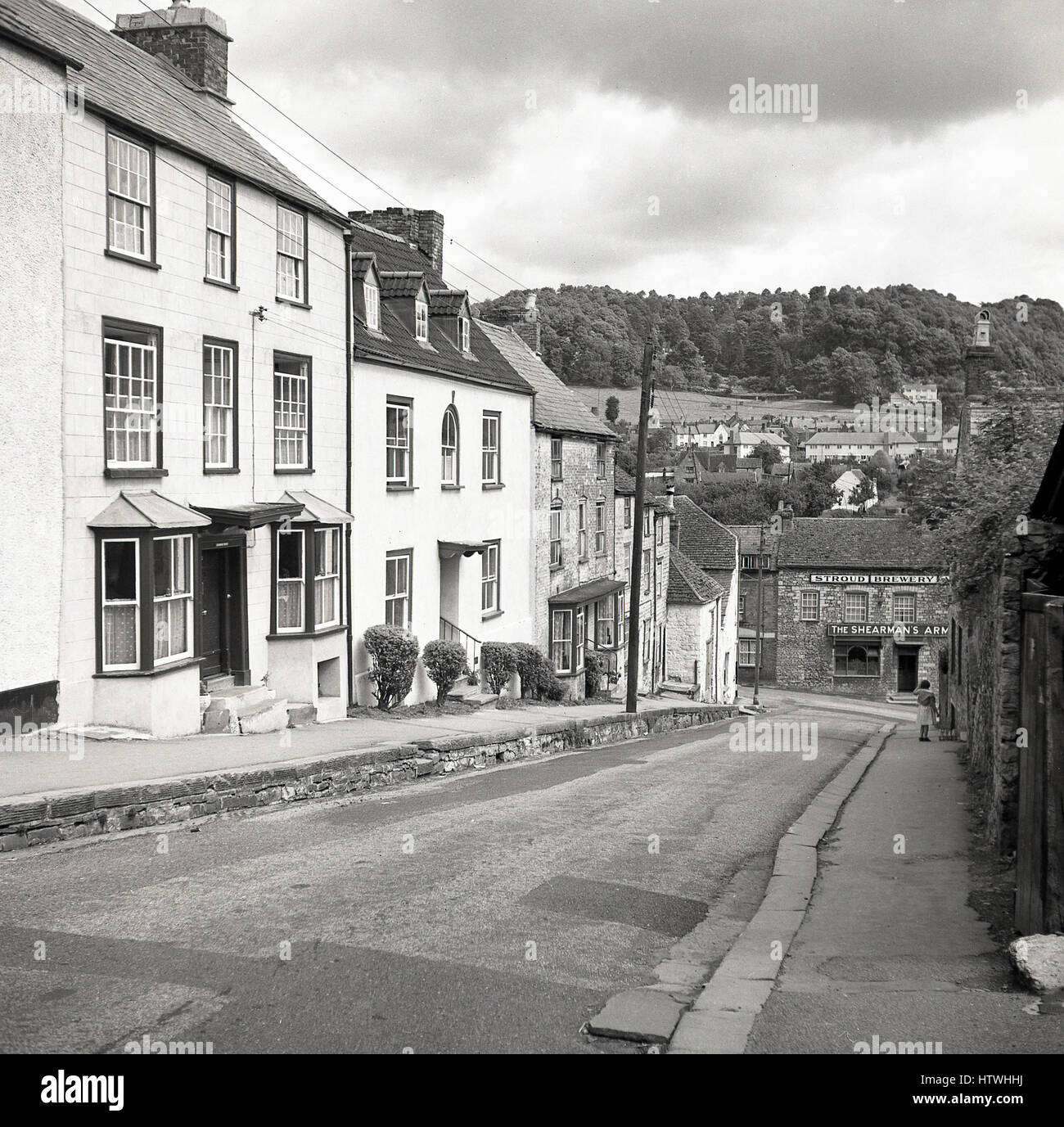 1940s, historical, The Shearman's Arms, Wotton-under-edge, Stroud, Gloucestershire, UK, - Stock Image