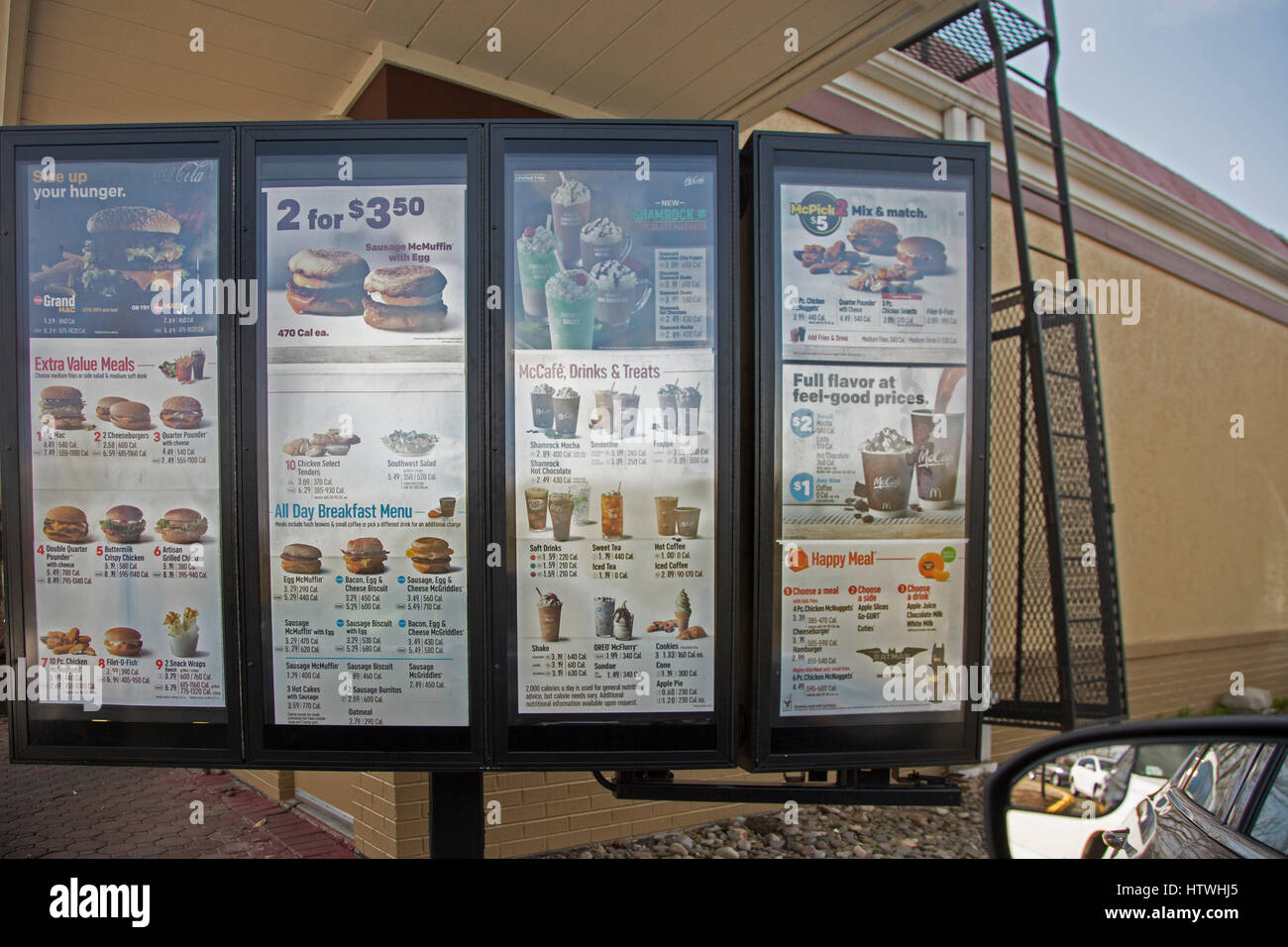 Mcdonalds Drive Thru Stock Photos & Mcdonalds Drive Thru Stock