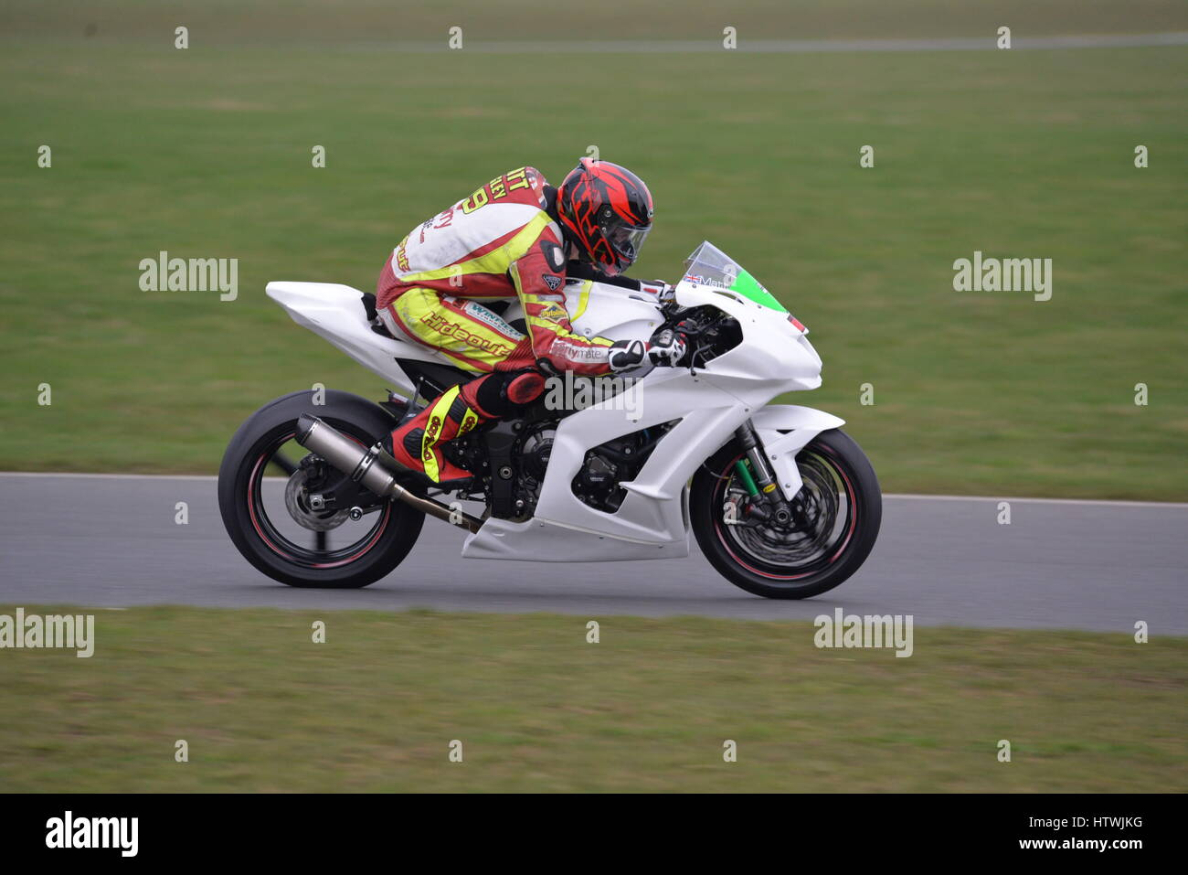 No Limits motorbike track day - Stock Image
