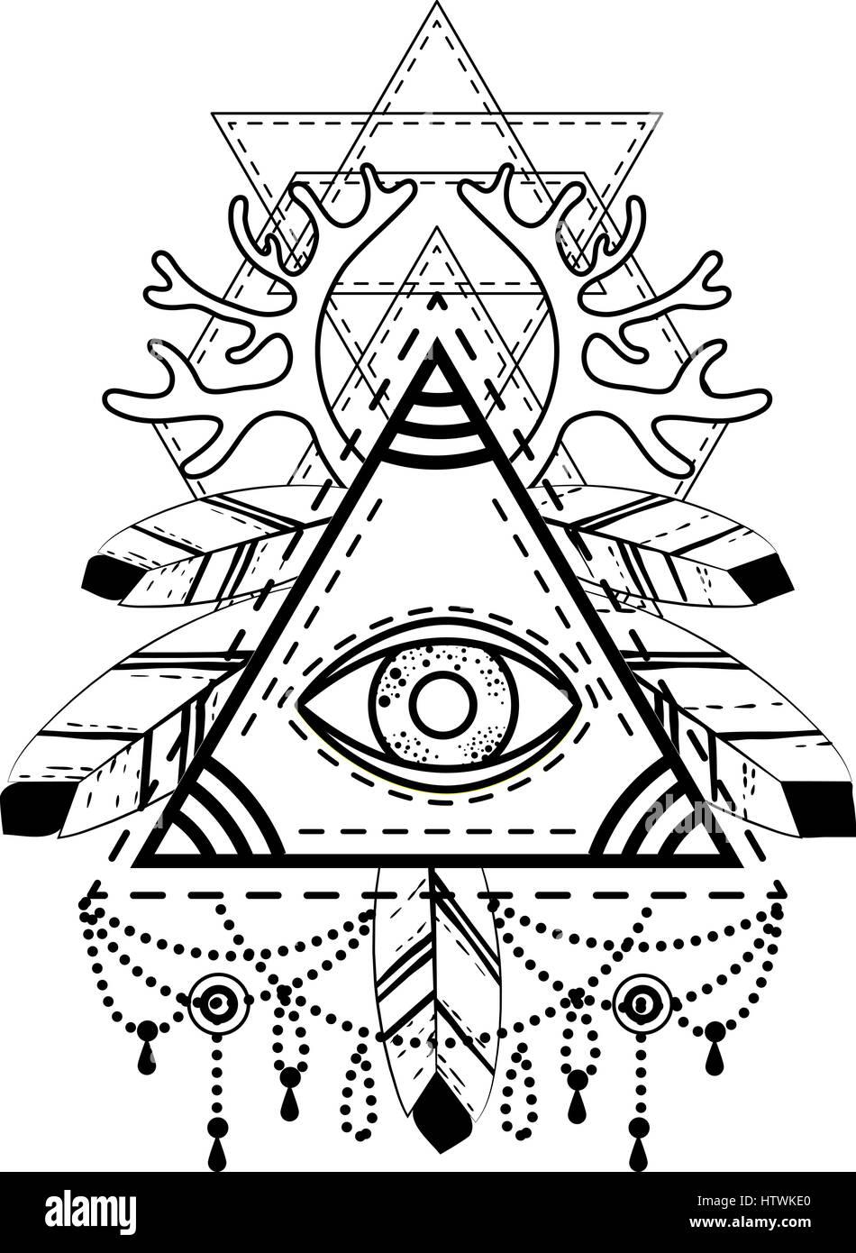 All Seeing Eye Pyramid Symbol
