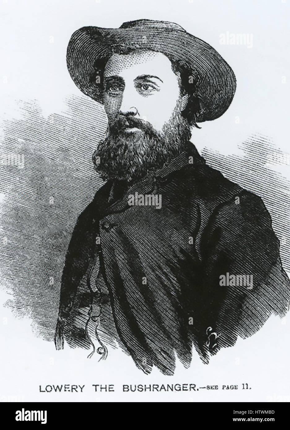 FRED LOWERY (1836-1865) Australian bushranger - Stock Image