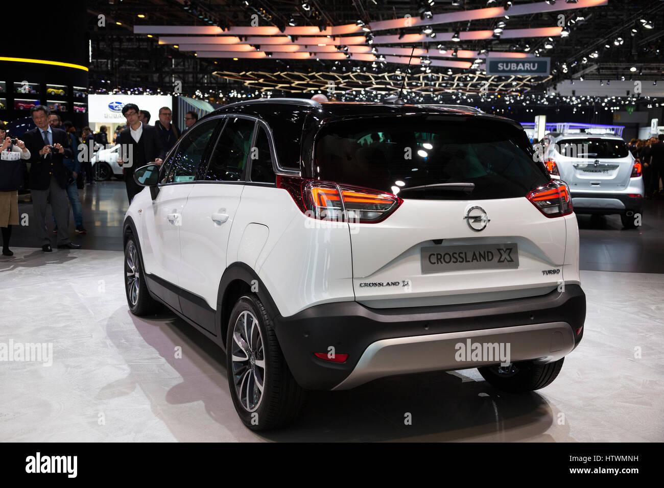Opal Vauxhall Crossland SUV at the 87th International Geneva Motor Show - Stock Image