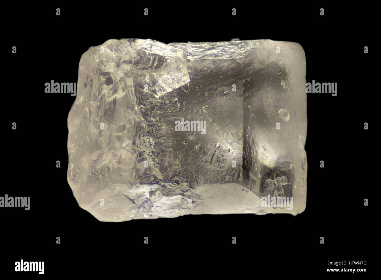Extreme magnification - Sugar crystal at 20x - Stock Image