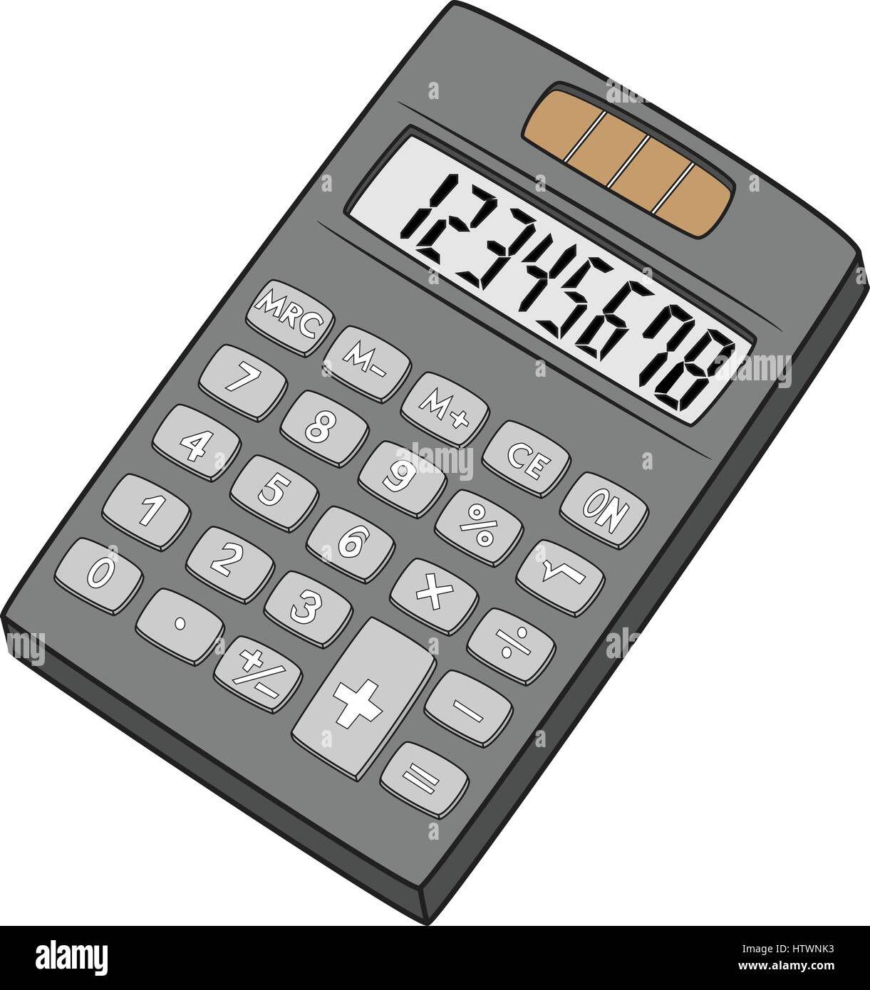 Illustration of Isolated Calculator Cartoon Drawing ...