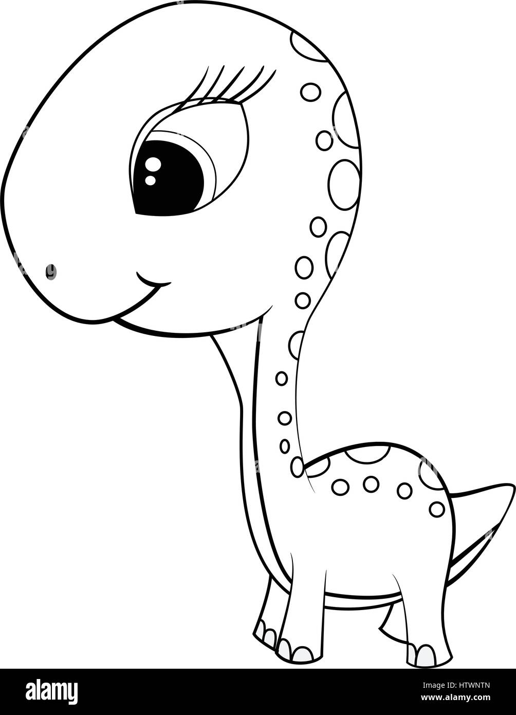 Image of: Png Illustration Of Cute Cartoon Of Green Baby Brontosaurus Dinosaur Vector Eps8 Alamy Illustration Of Cute Cartoon Of Green Baby Brontosaurus Dinosaur