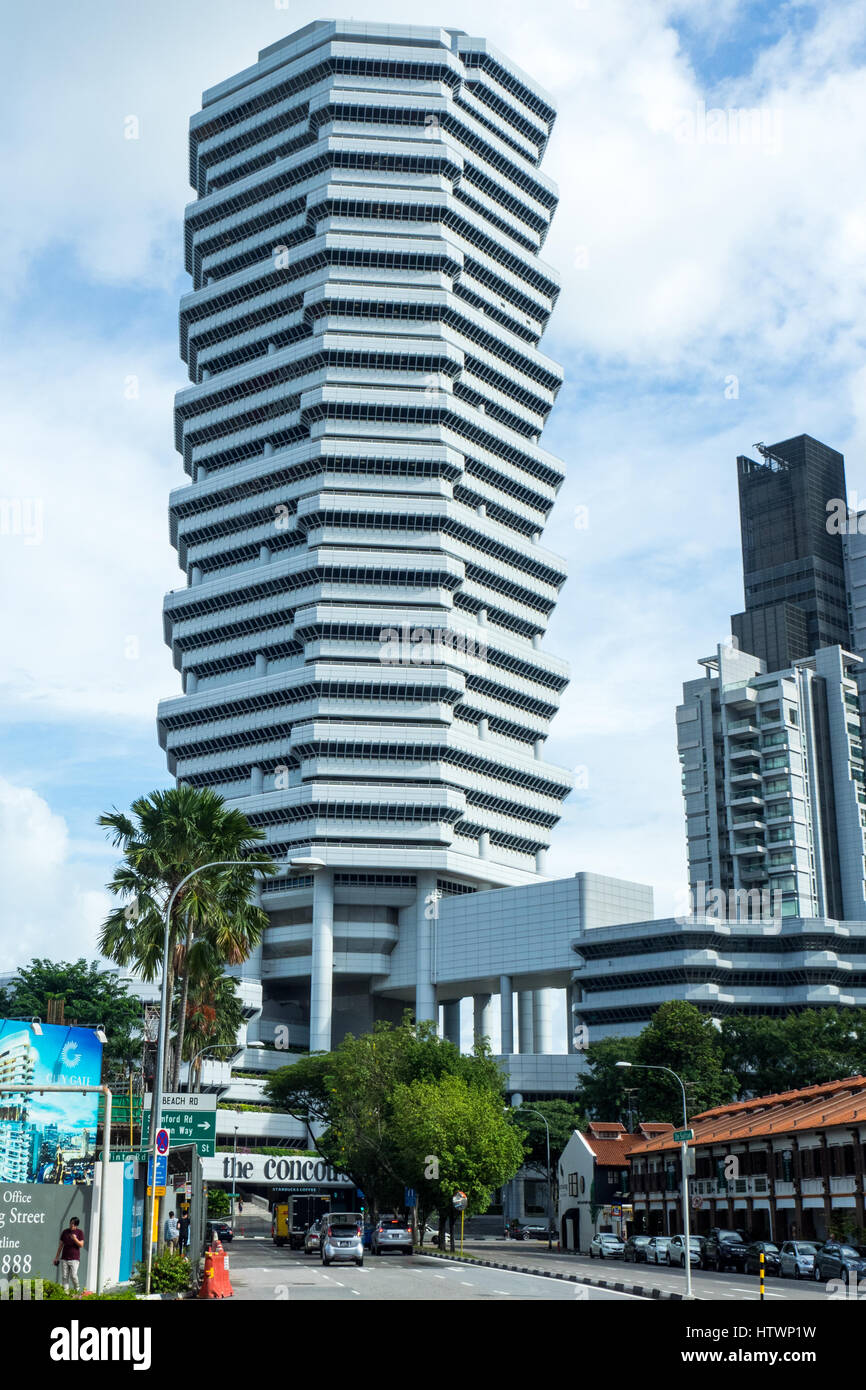 The Concourse, a high rise commercial and residential building in Singapore. - Stock Image