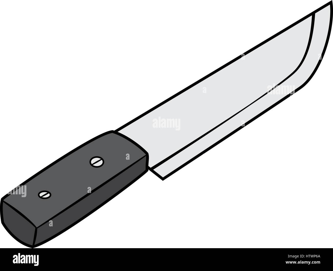 Illustration of Isolated Chef Knife Cartoon Drawing ...