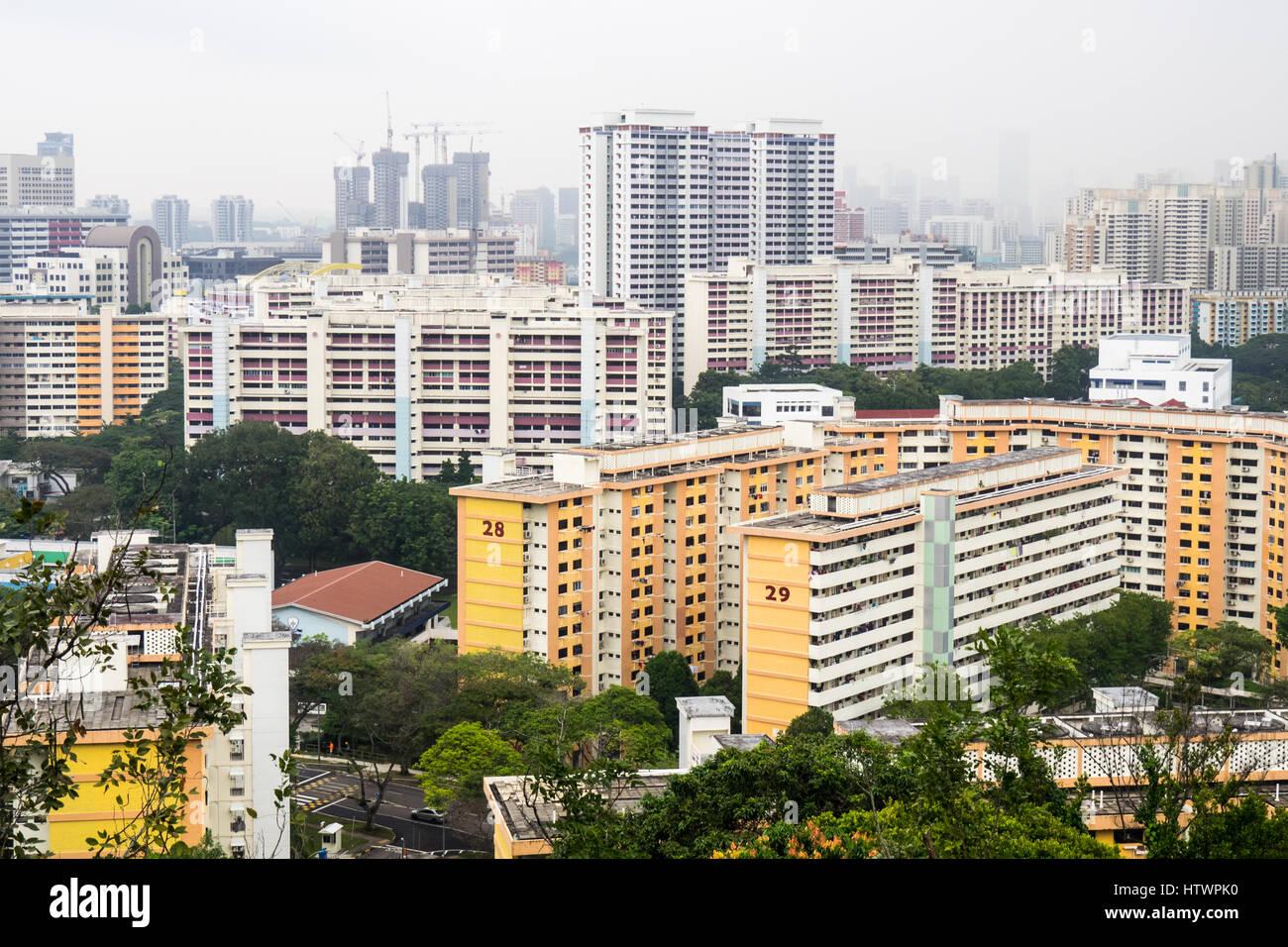 High density urban residential towers in Bukit Merah, Singapore. Stock Photo