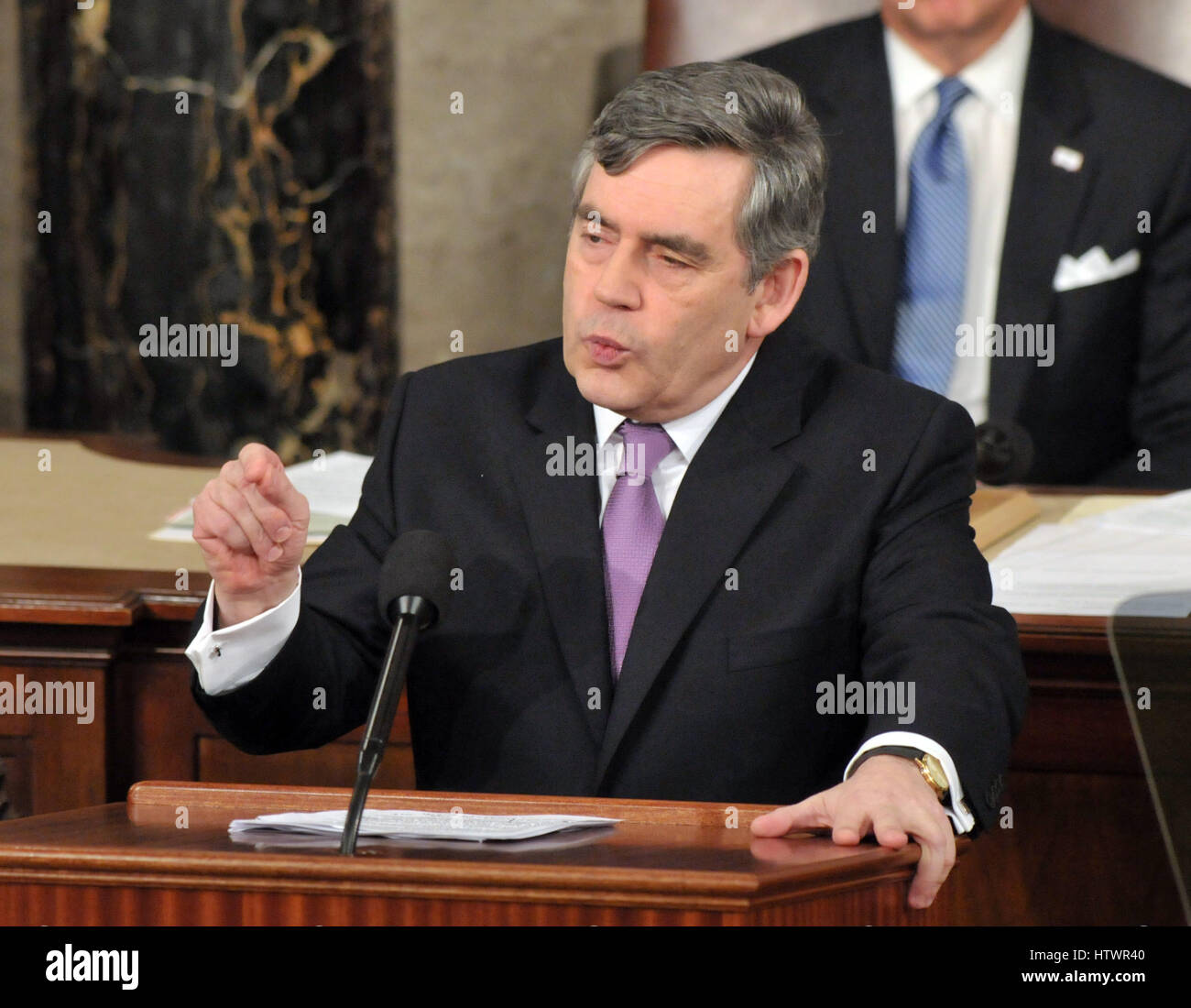 Washington, DC - March 4, 2009 -- The Right Honorable Gordon Brown, M.P., Prime Minister of the United Kingdom, - Stock Image