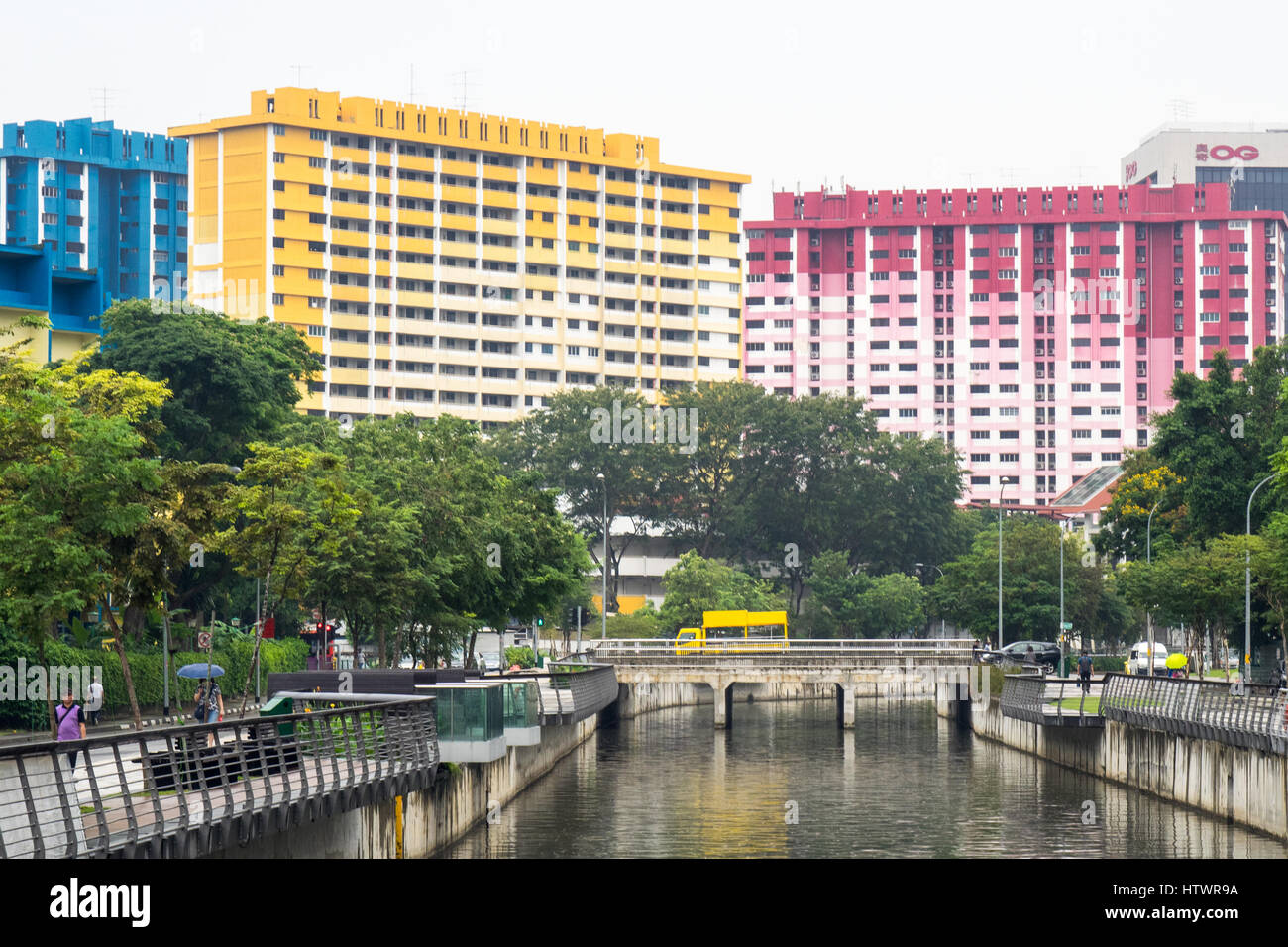 Rochor Centre a public housing complex in Singapore which is set to be demolished in 2017. - Stock Image