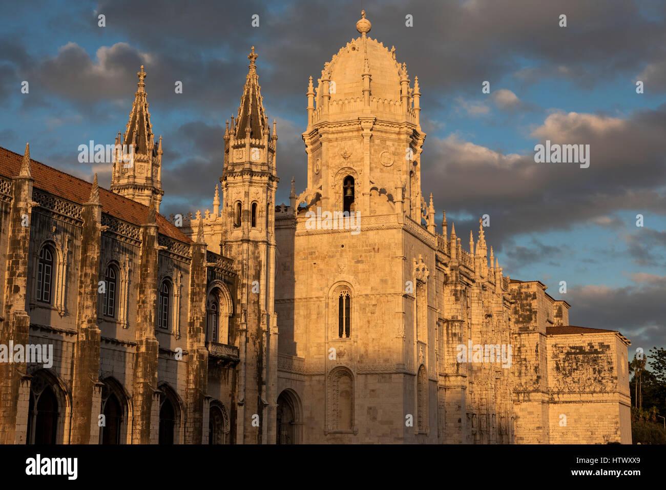 Igreja Santa Maria de Belém (The Church of St. Mary of Belém), Belém, Lisbon, Portugal - Stock Image