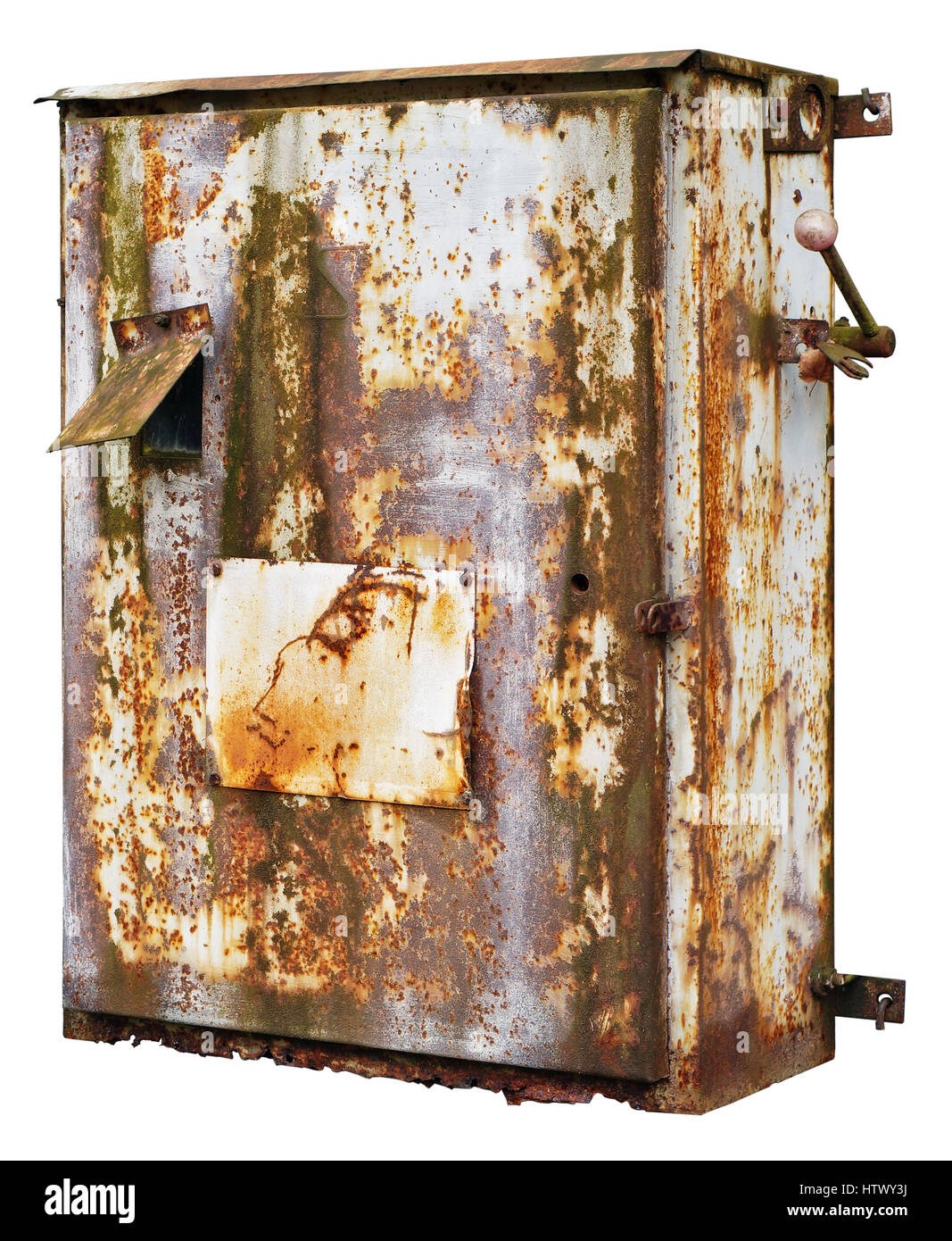 Old Fuses Fuse Box Cut Out Stock Images Pictures Alamy Rusty Retro Metal For Electrical And Switches Isolated Image