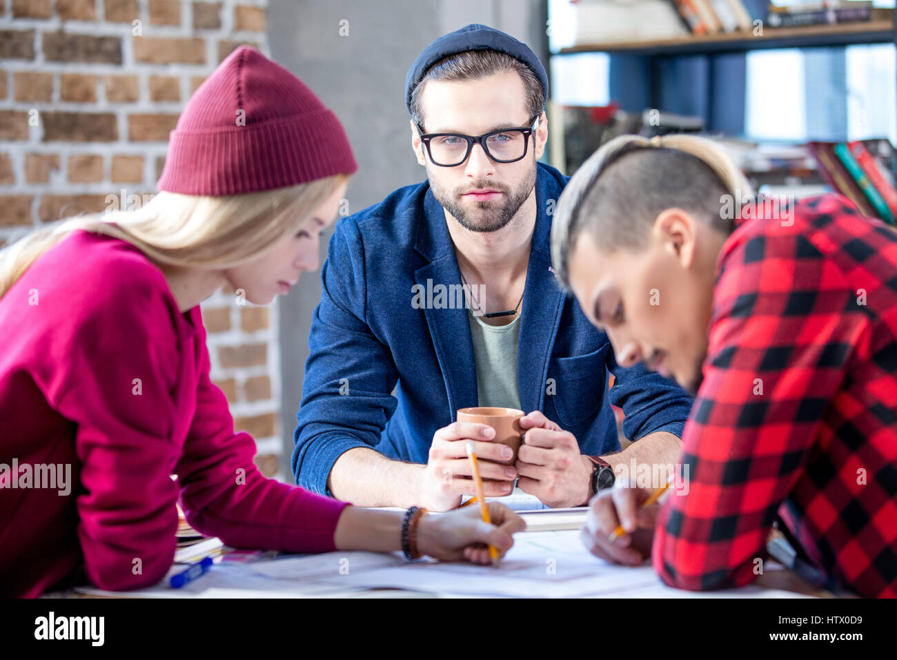 Designers working at project Stock Photo