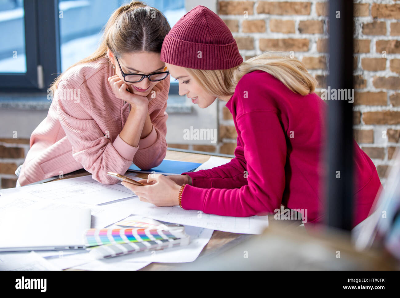 Two female designers - Stock Image