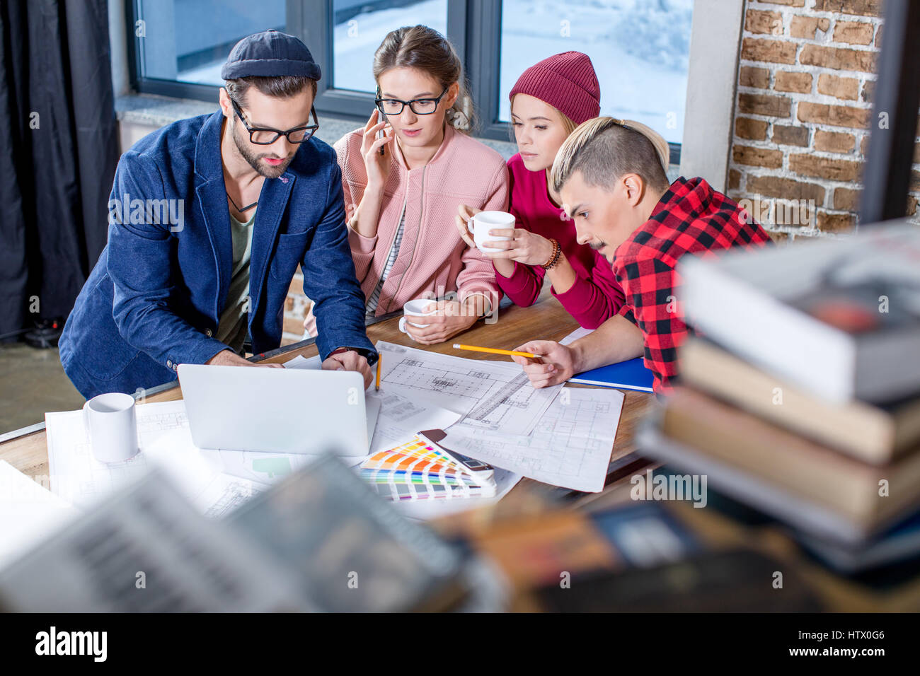 Designers working at project  - Stock Image
