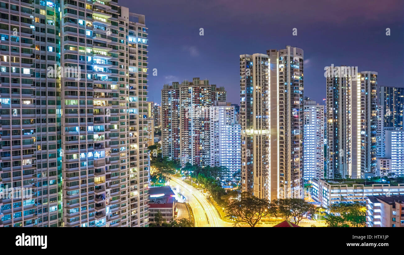 Toa Payoh at Night - Stock Image