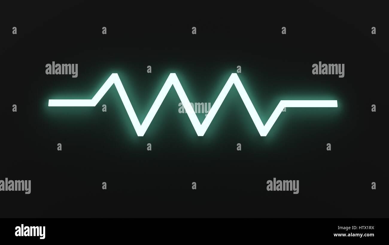Resistor Symbol (European) - Stock Image
