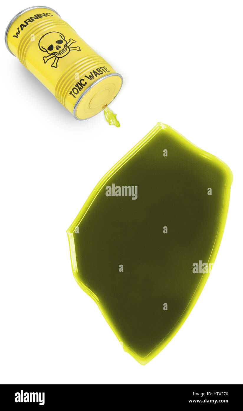 Glossy spill of a toxic substance in the shape of Swaziland (series) Stock Photo