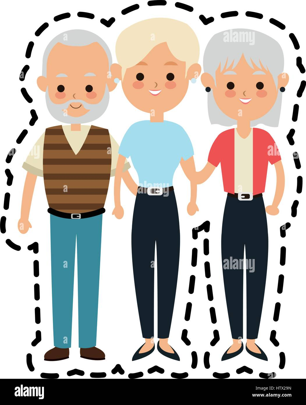 people or family members icon image  - Stock Vector