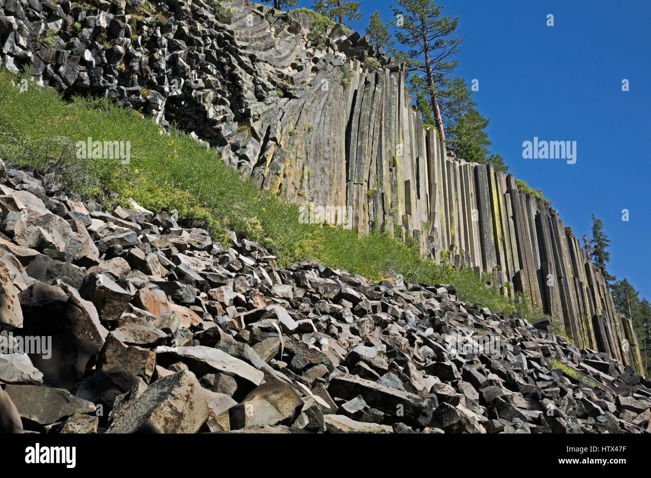 CA03041-00...CALIFORNIA - Wall of columnar basalt at Devils Postpile National Monument. - Stock Image