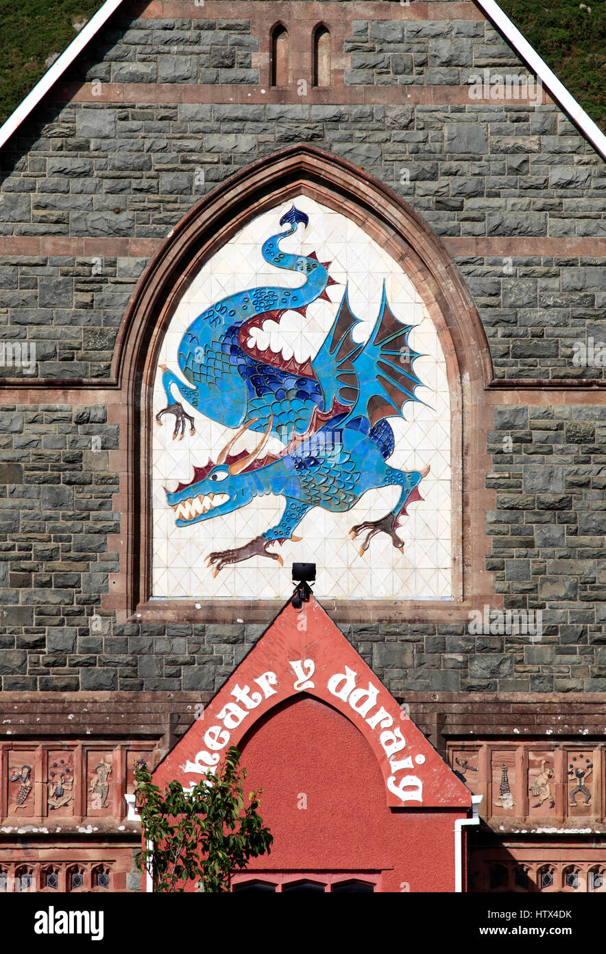 The Dragon Theatre, Barmouth, Wales, Europe - Stock Image