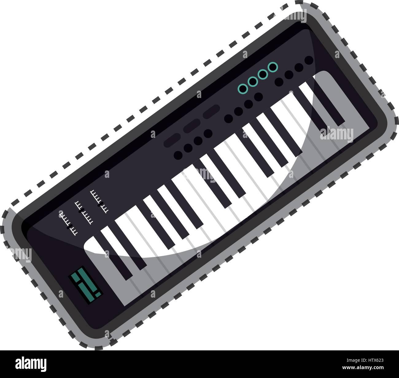 synthesizer audio device icon - Stock Image