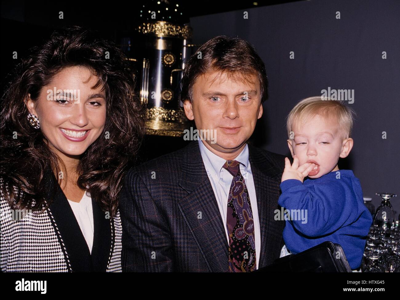 Pat Sajak with wife Lesley and son Attending The N.A.T.P.E ...