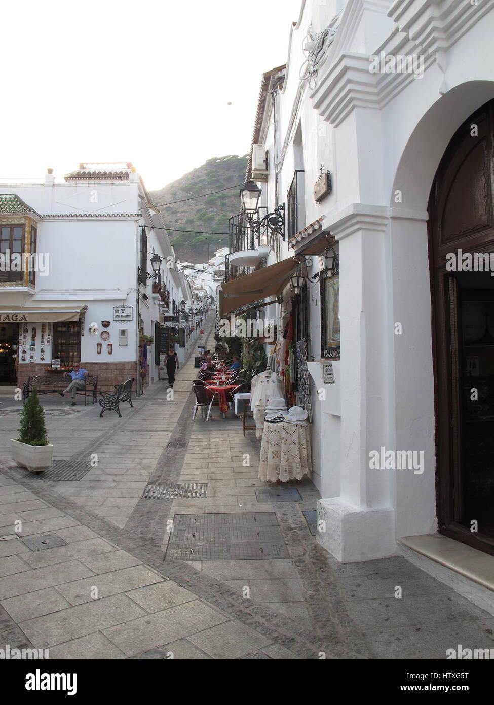 Mijas, white village, Costa del Sol, Andalusia, Spain - Stock Image