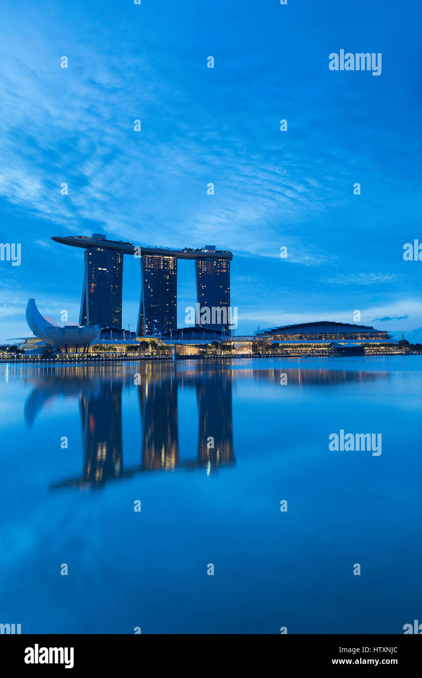Marina Bay Sands Hotel, Marina Bay, Singapore - Stock Image