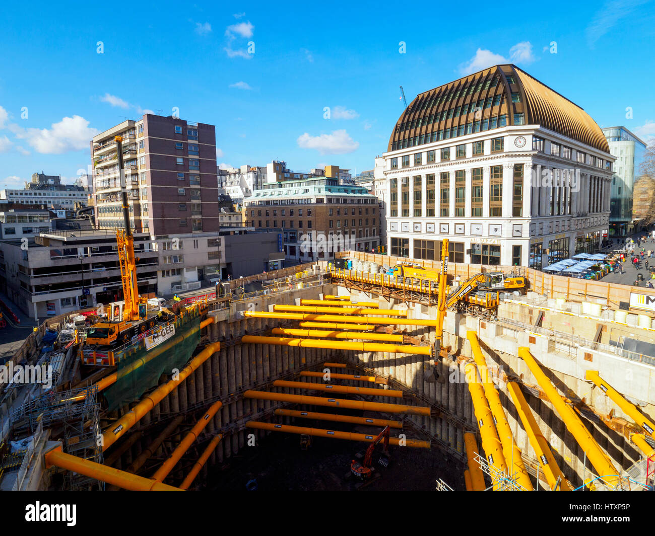 Building site near Leicester square - London, England Stock Photo
