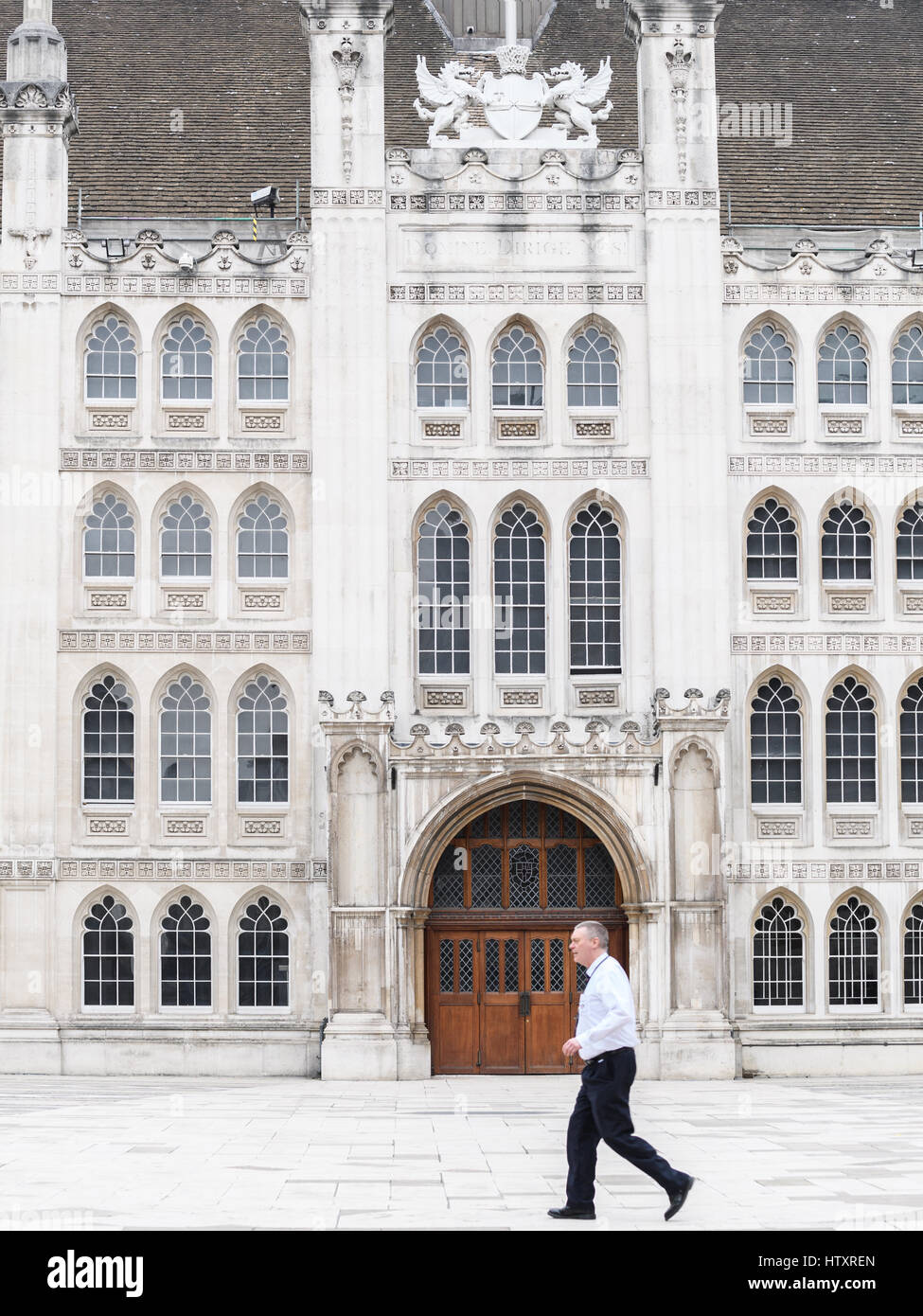 fifteenth century City of London, Guildhall. - Stock Image
