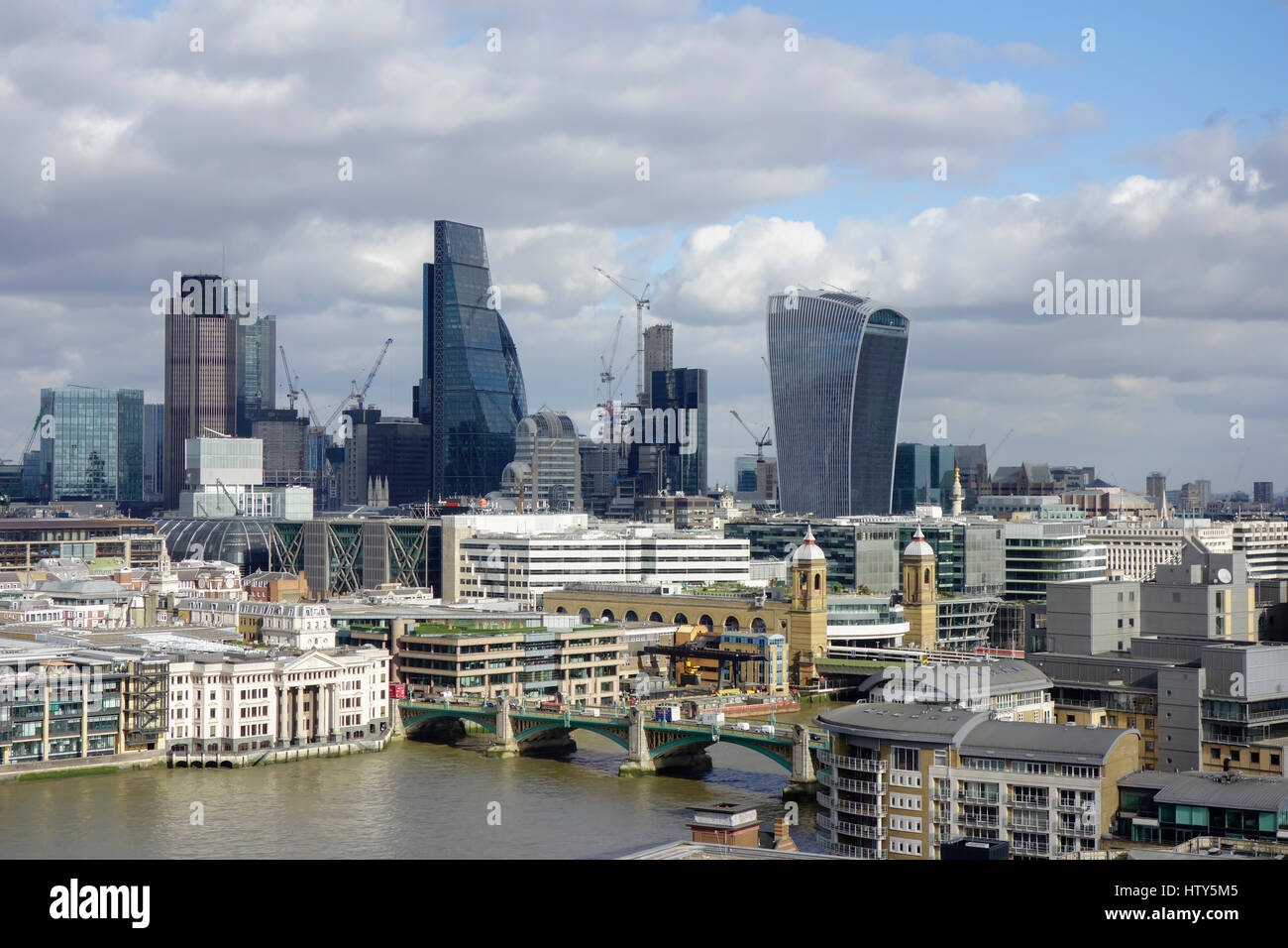 City of London skyline, London, England, United Kingdom, Europe - Stock Image