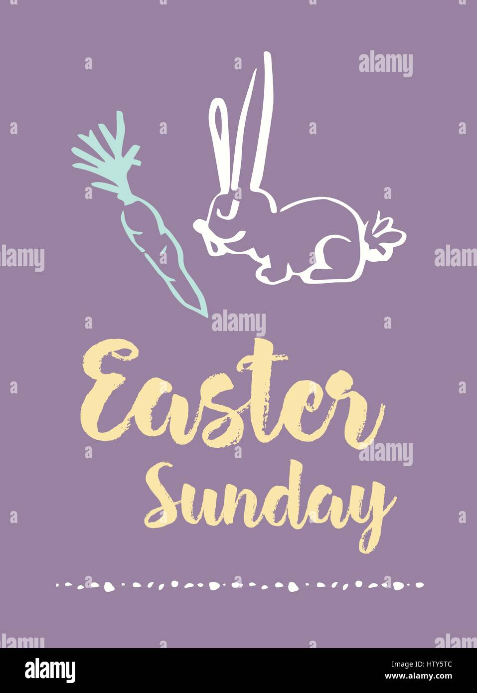 Easter sunday stock vector images alamy vector of greeting card with easter sunday message stock vector m4hsunfo