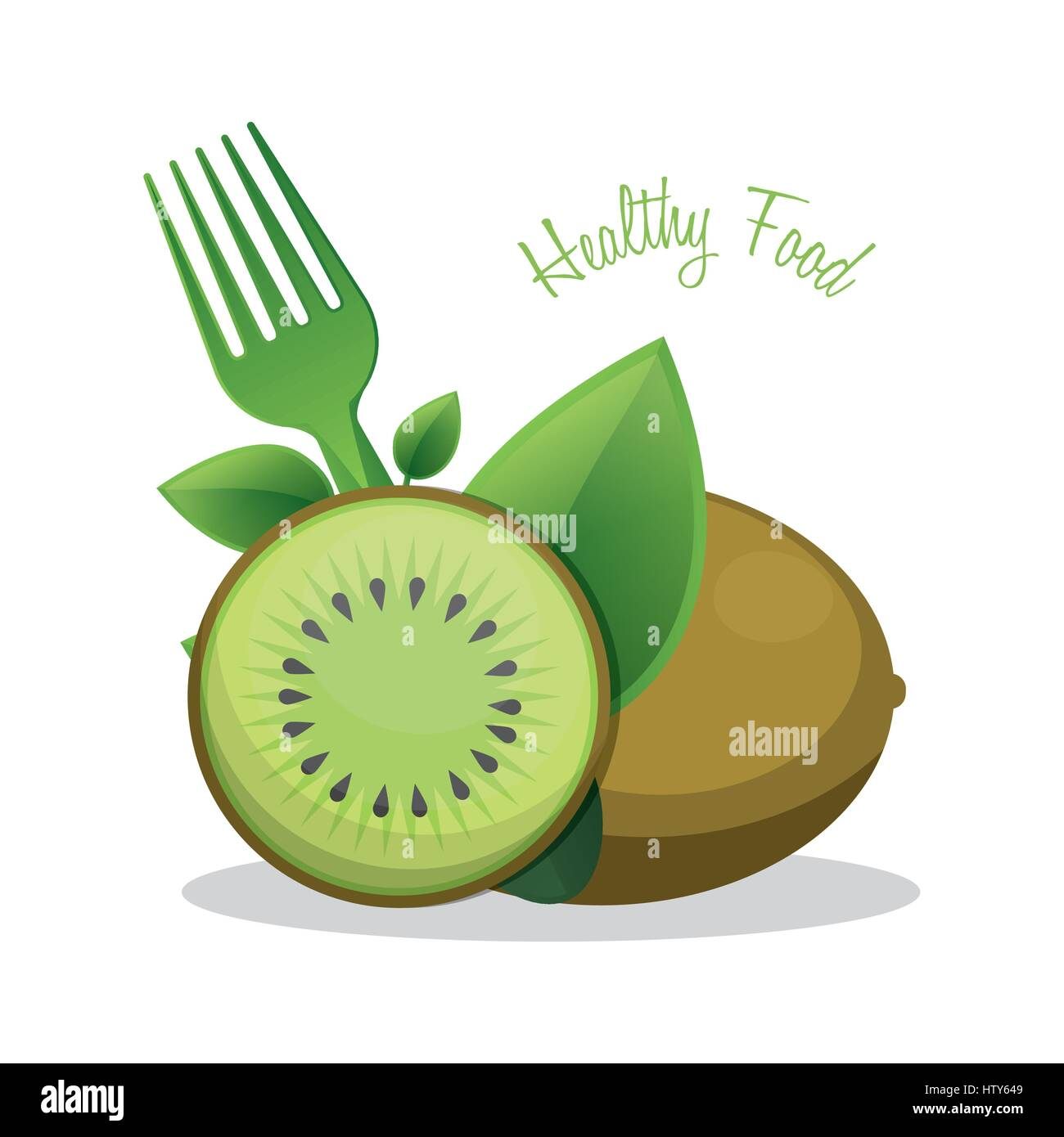 kiwi healthy food ingredient - Stock Image