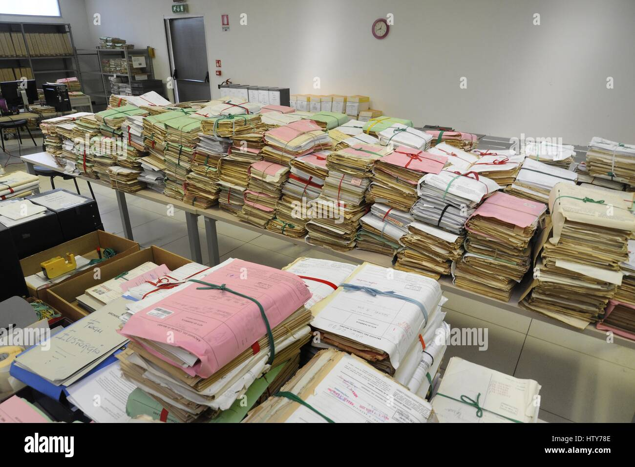 The central archive of  Milan  Municipality (Italy) - Stock Image