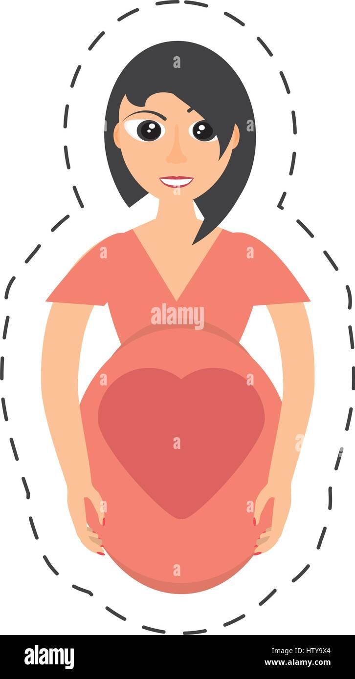 pregnant woman maternity pretty - Stock Image