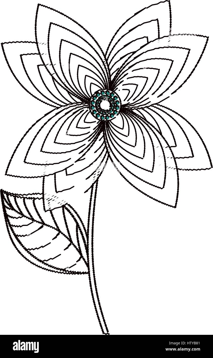 Lily Flower Decoration Sketch Stock Vector Art