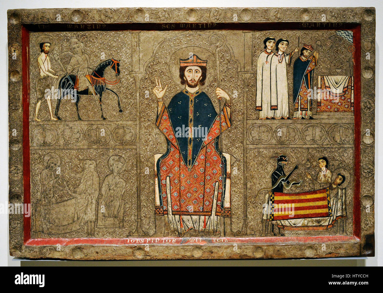 Iohannes. Ribagorza workshop. Altar frontal from Gia, 2nd half of 13th century. From the Church of Sant Marti of - Stock Image