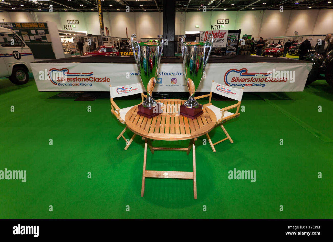 The SIlverstone Classic Stand at Historic Motorsport  International 2017 - Stock Image