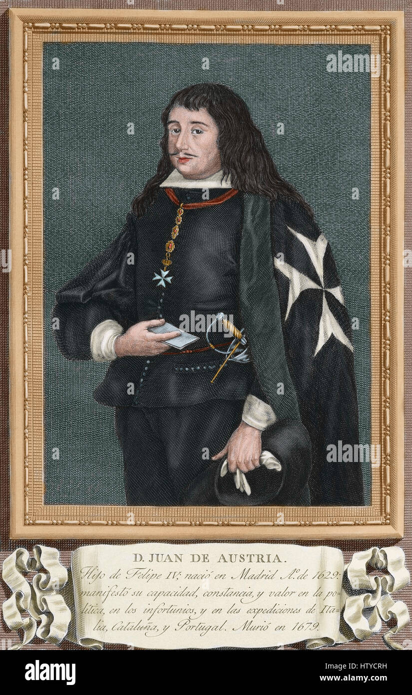 John of Austria (the Younger) (1629-1679). Spanish general and political figure. He was the only natural son of - Stock Image