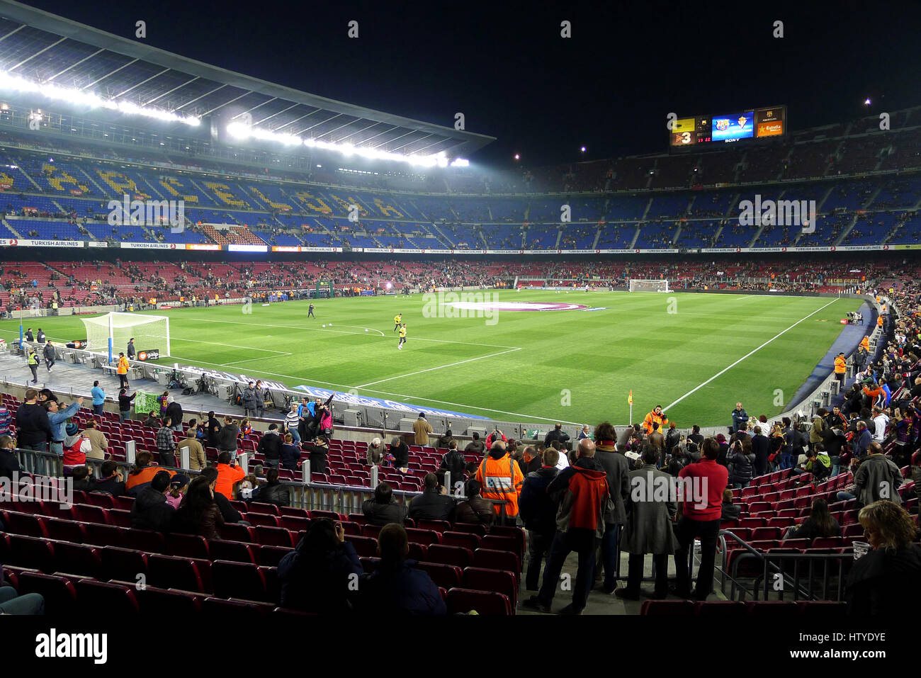 Camp Nou is a football stadium in Barcelona, Spain. It is also the home of Futbold Club Barcelona since 1957. - Stock Image
