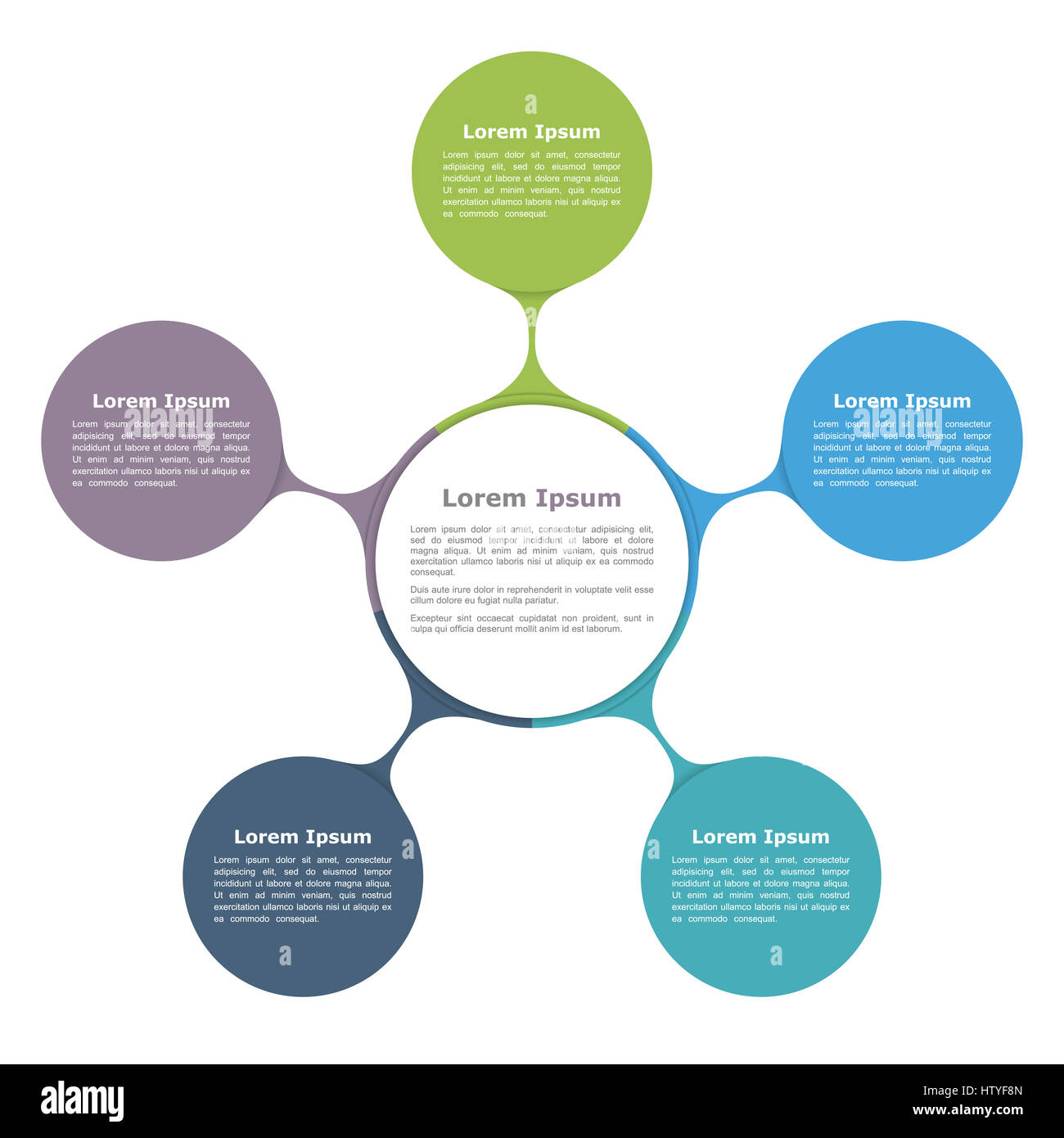 Circle diagram with five elements infographic template stock photo circle diagram with five elements infographic template ccuart Choice Image