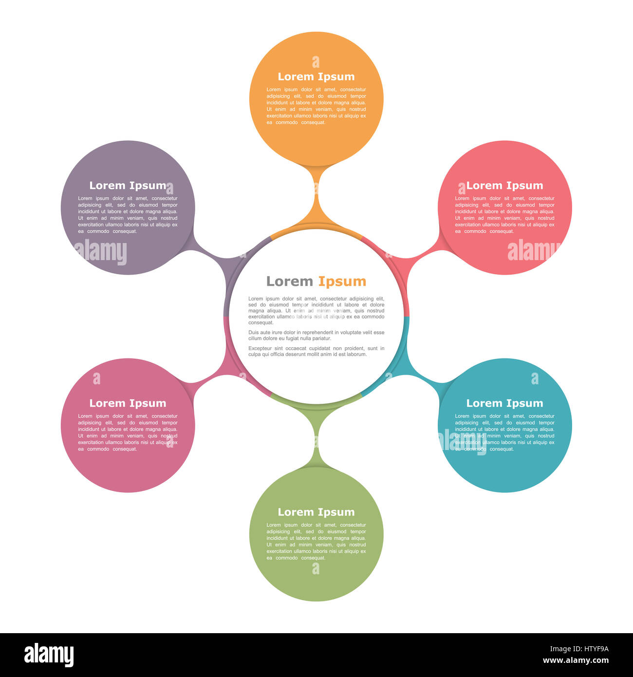 Circle diagram with six elements infographic template stock photo circle diagram with six elements infographic template ccuart Images