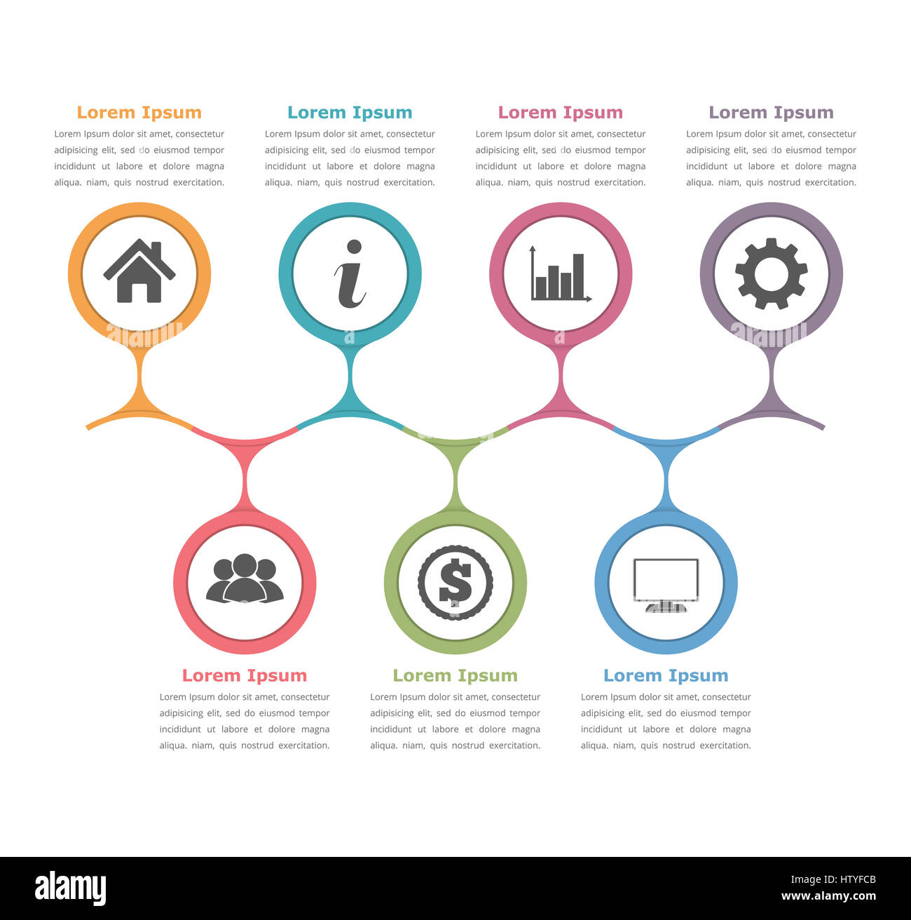 Flow chart template with icons and text process diagram business flow chart template with icons and text process diagram business infographics wajeb Images