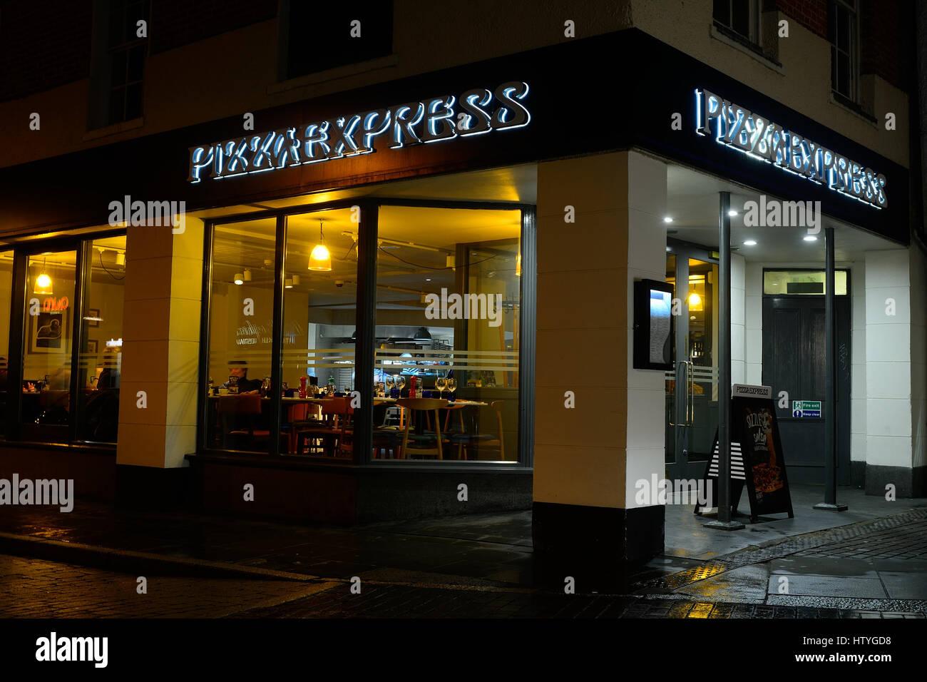Pizza Express Restuarant In Hitchin Hertfordshire Stock