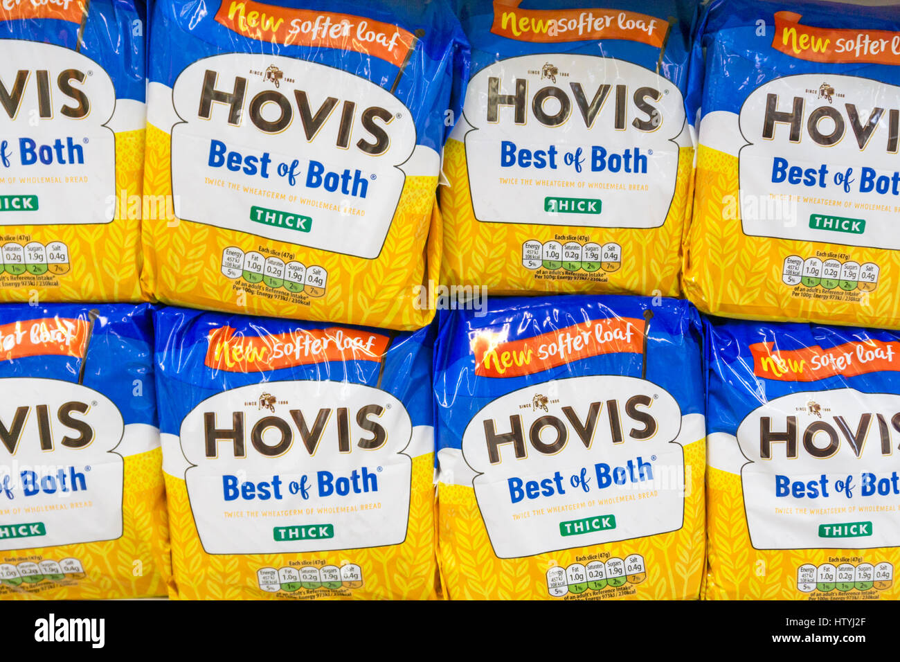 Hovis Best of Both loaves. - Stock Image