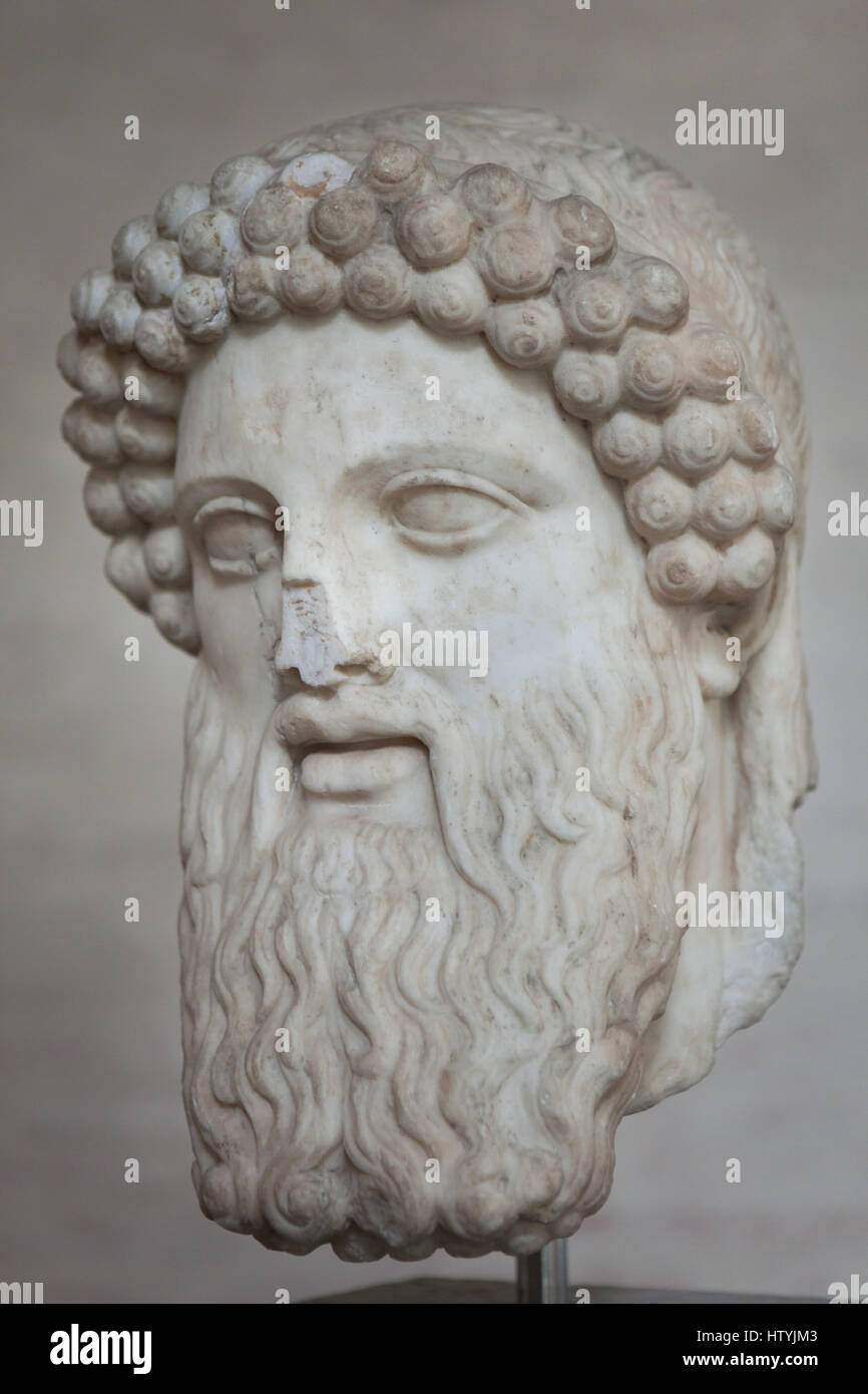 Hermes Propylaeus. Roman marble copy after an Early Greek original ...